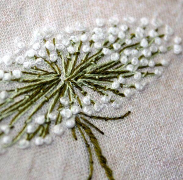 Французский узелок в вышивке
