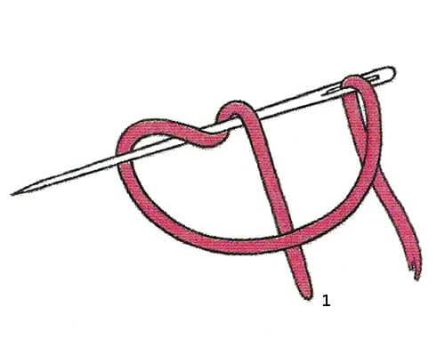 Французский узелок на ножке - схема 1
