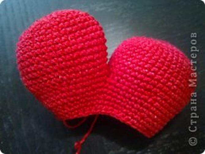 Кот-сердечко вязанный крючком