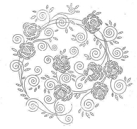 Схема вышивки рококо