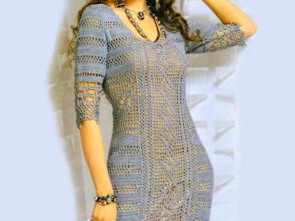 Элегантное летнее платье с бусинами