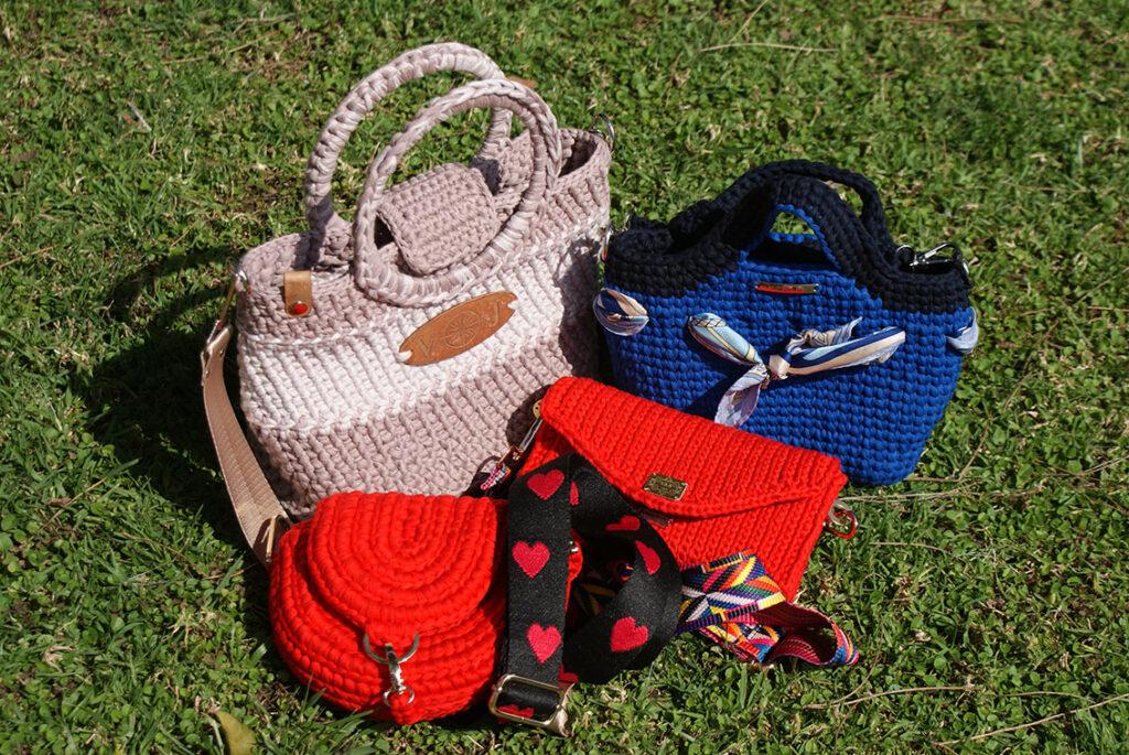 Модные сумки вязанные крючком