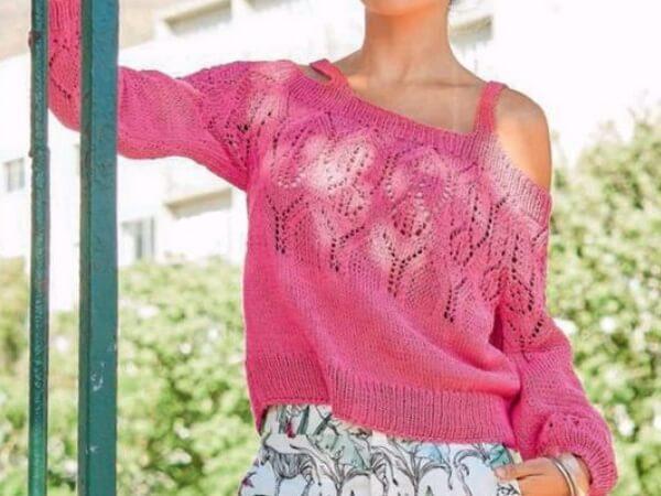 Пуловер на бретелях