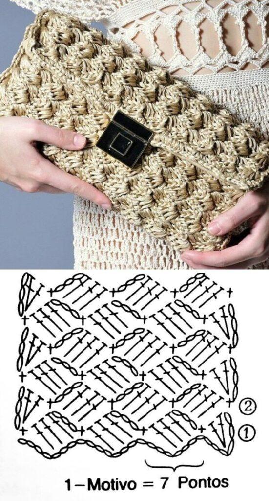 Маленькая сумочка крючком схема