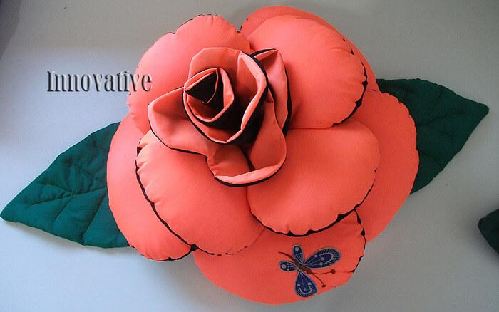 Подушка-Роза