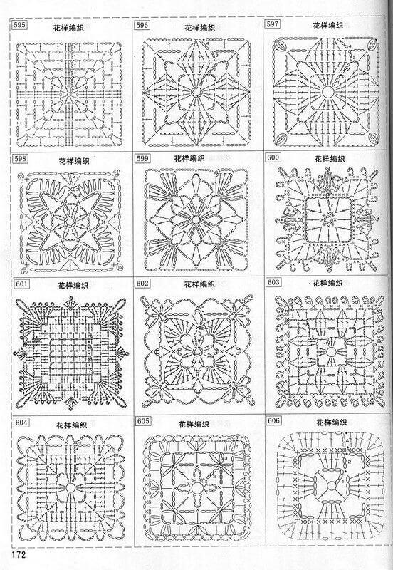 Квадратные мотивы крючком схемы