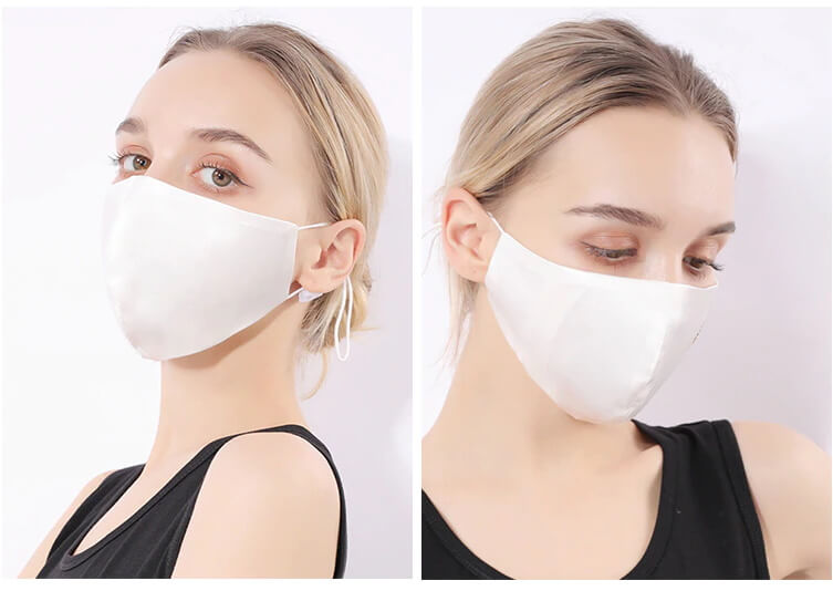Многоразовая шелковая женская летняя маска