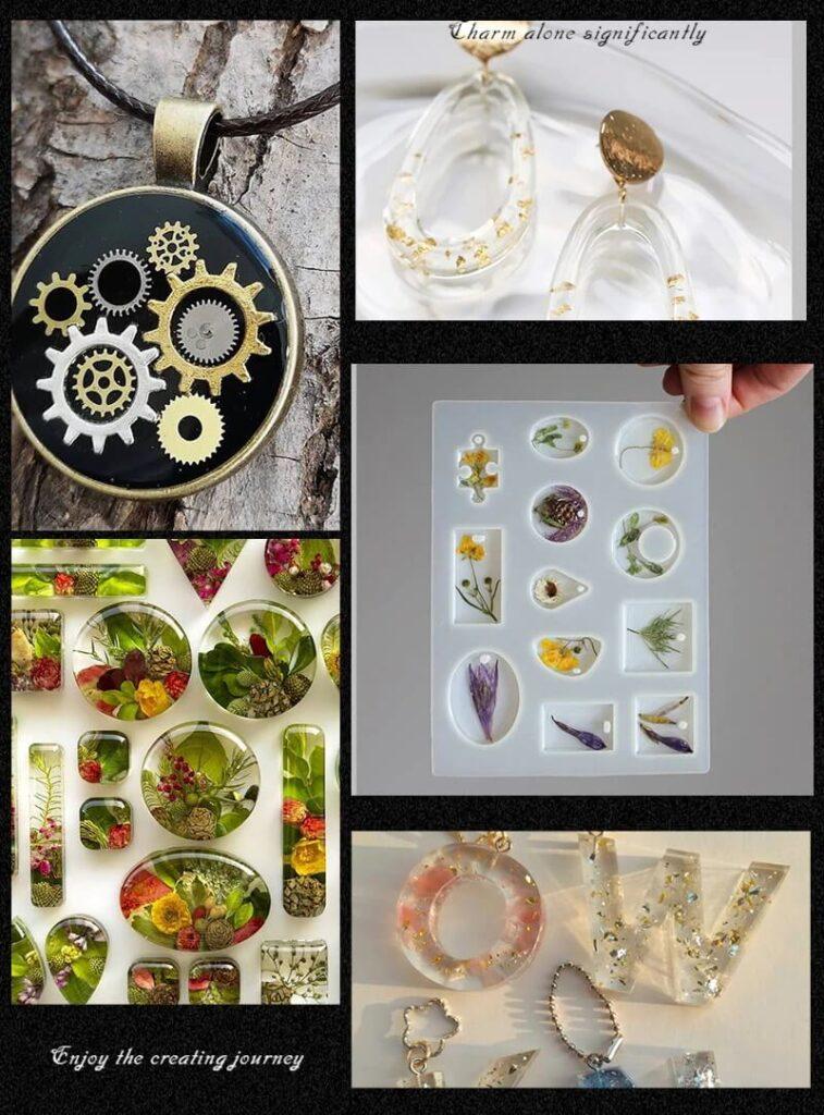 Набор силиконовых форм для изготовления бижутерии