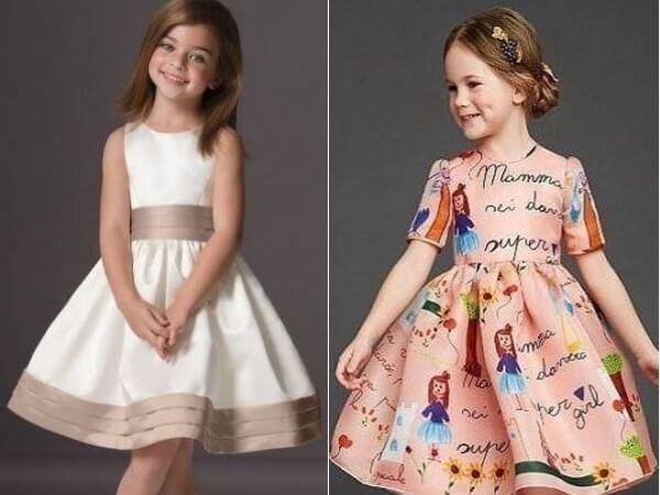 Выкройки платьев для девочек 9 лет