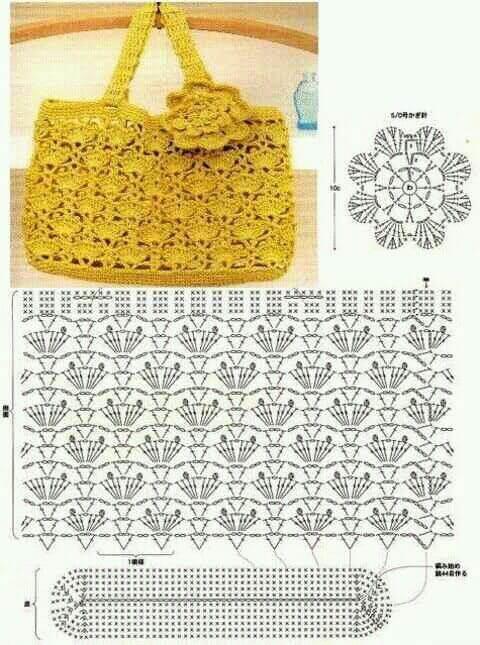 Пляжные сумки крючком