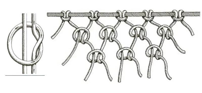 Галстучный узел макраме