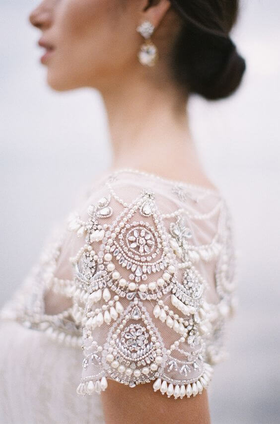 Свадебная вышивка бисером