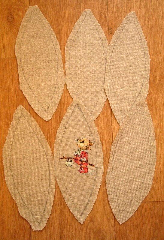 Елочные шарики вышивка крестом - выкройка