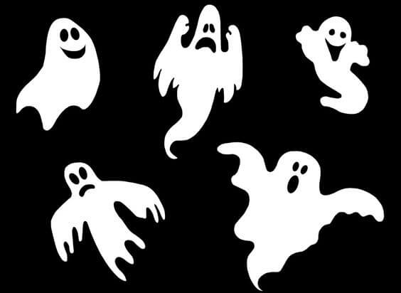 Шаблоны приведений на Хэллоуин