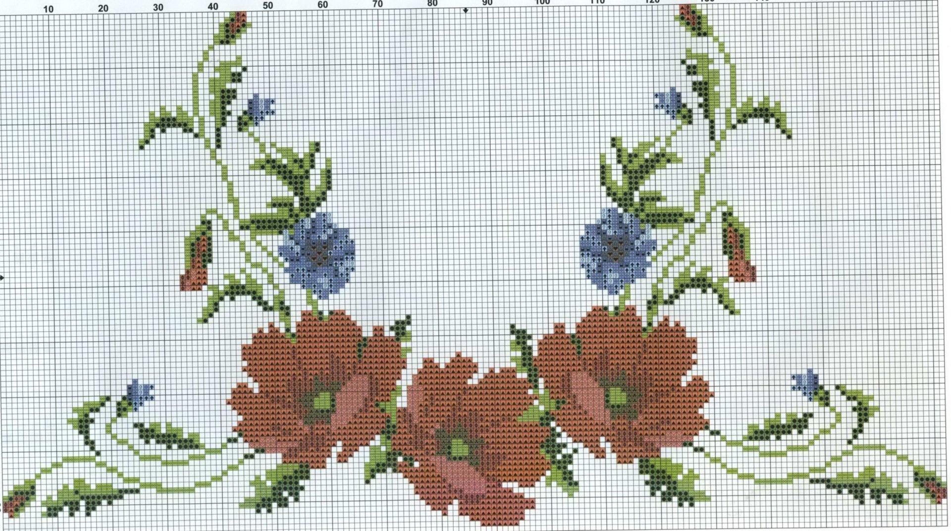 Схемы вышивок блузок крестом