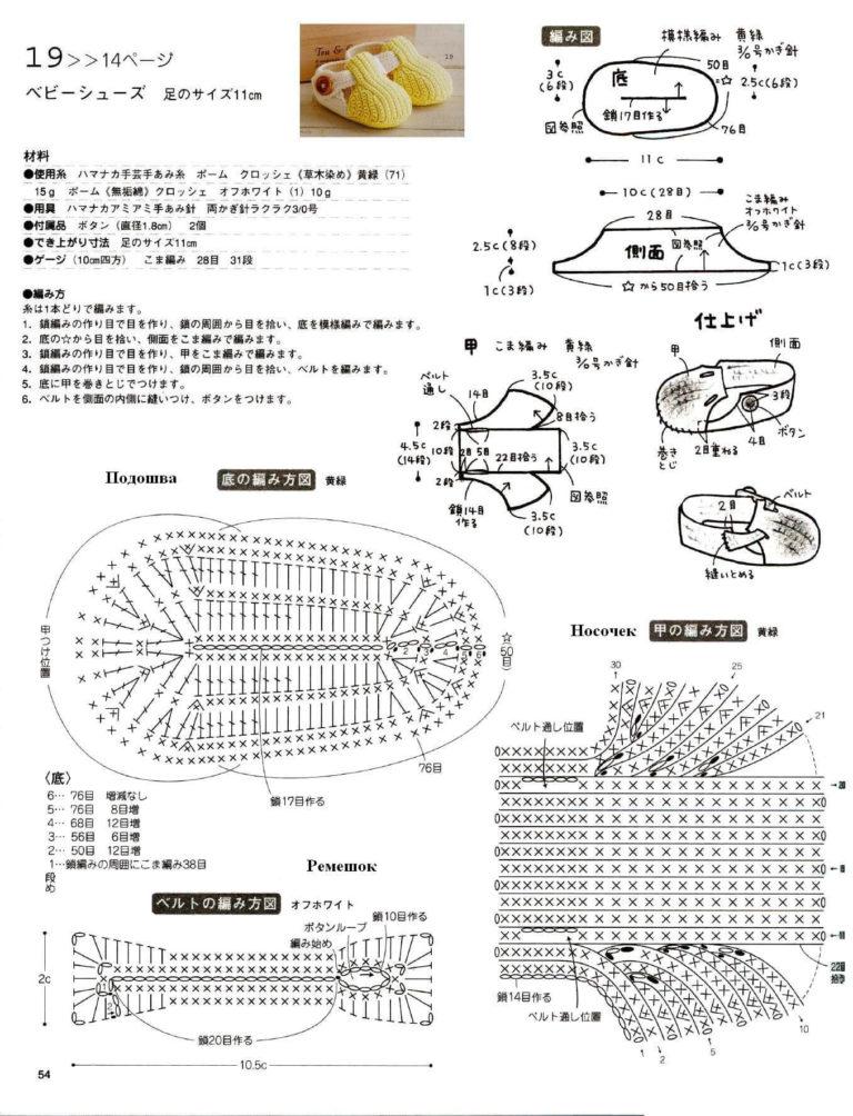 Схемы для вязания крючком пинеток с подробным описанием