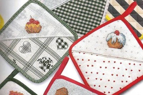 Схемы для вышивки крестом прихваток