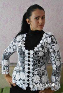 блуза из ирландского кружева