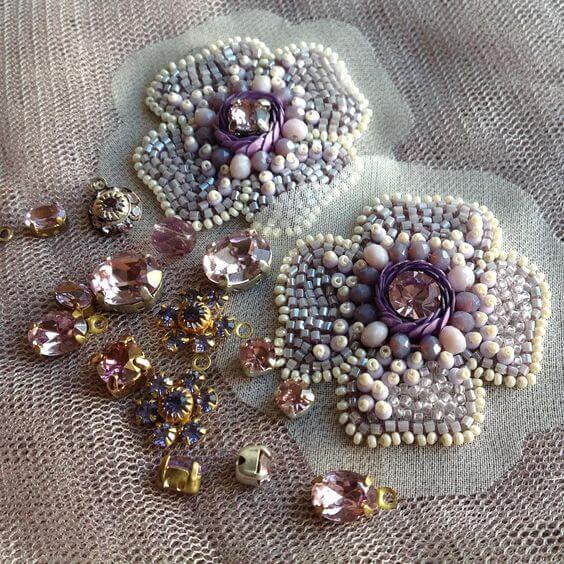 Декоративная вышивка бисером
