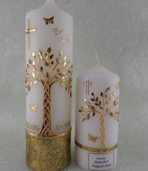 Декор новогодней свечи
