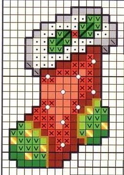 Схема вышивки Сапожок
