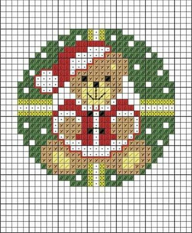 Схема вышивки Новогодний мишка
