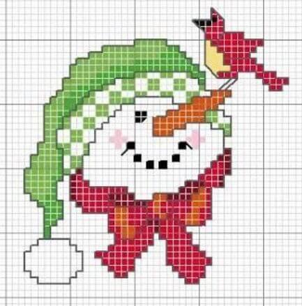 Схме вышивки Снеговик