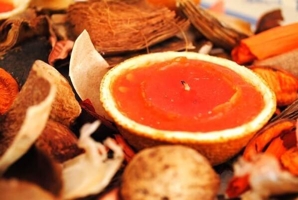 Новогодняя свеча из апельсина