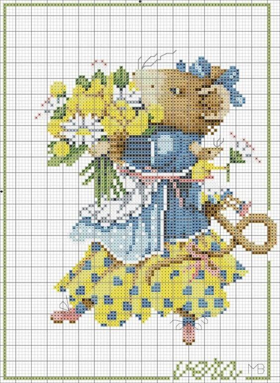 Схема вышивки крестом мыши